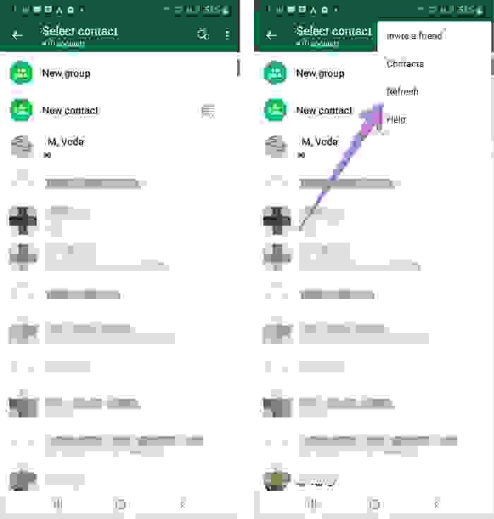 حل مشكلة عدم ظهور جهات الاتصال في واتساب