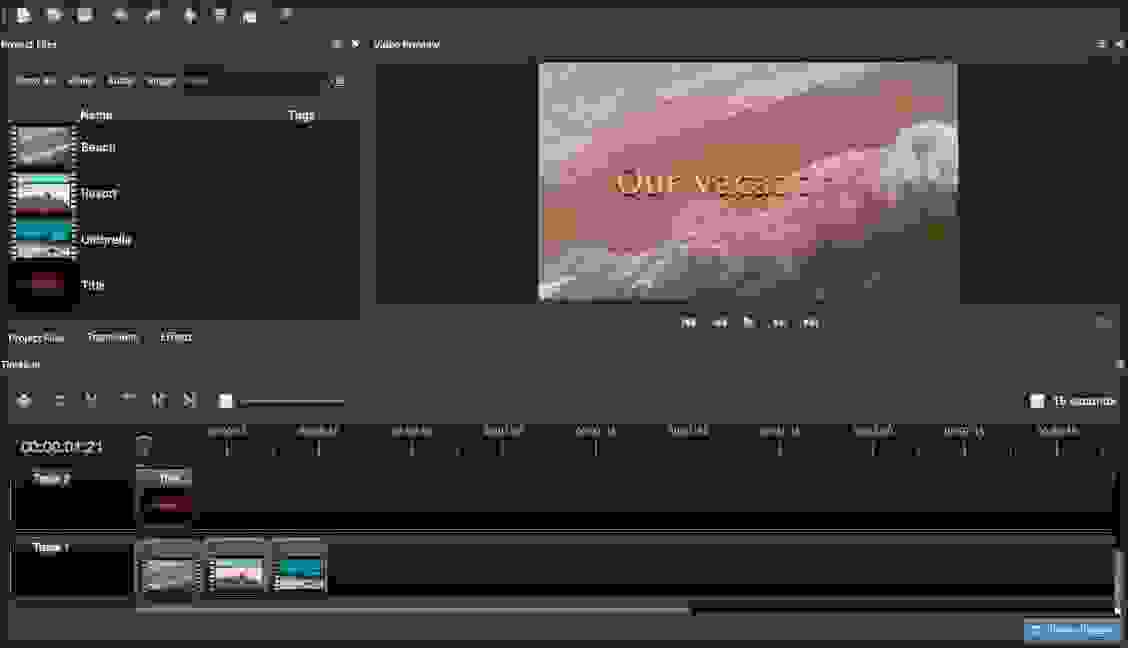 أوبن شوت (OpenShot)، أسهل برنامج مجاني لتحرير الفيديو للمحررين المتوسطين