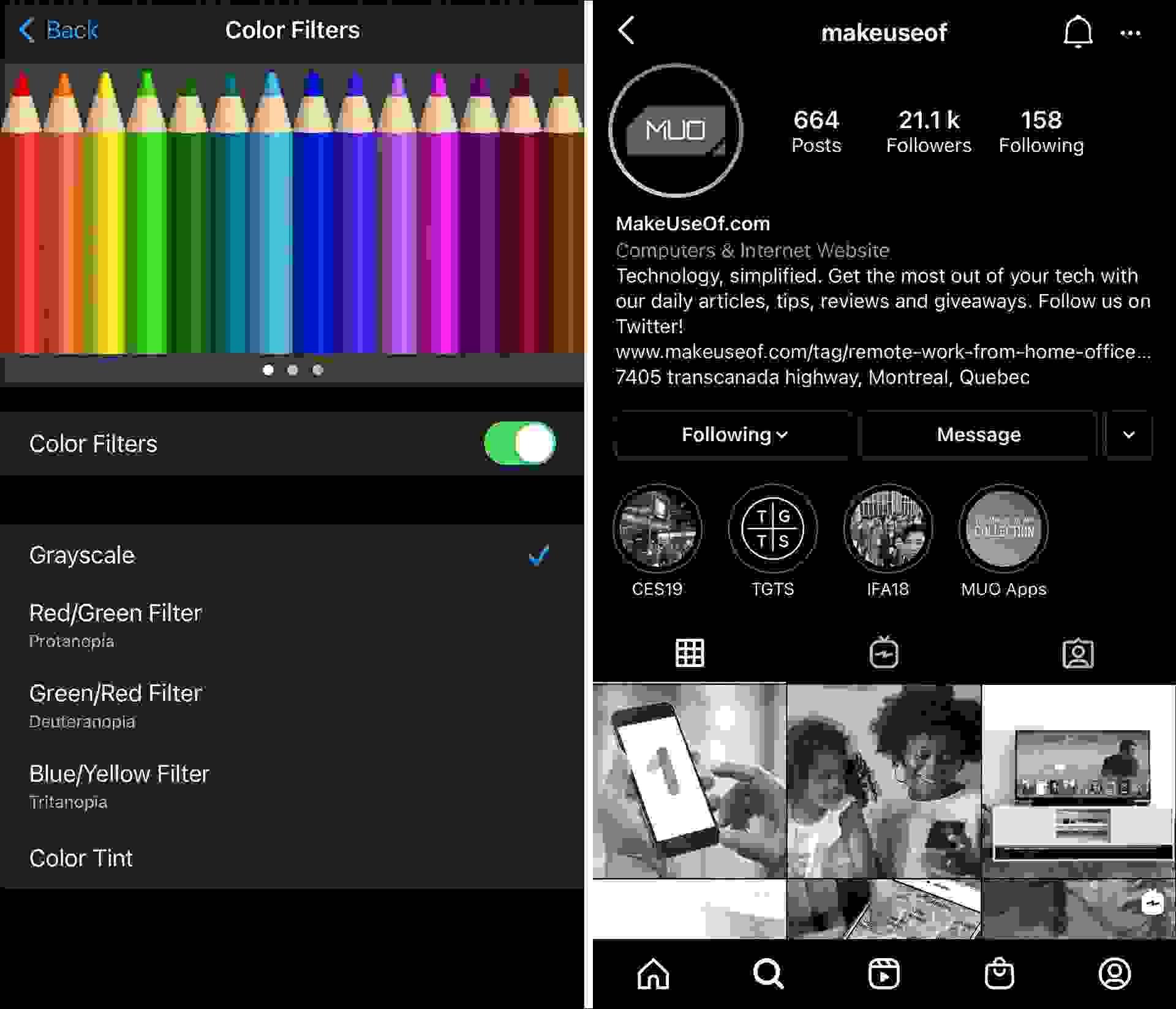 فلاتر الألوان (Color Filters)