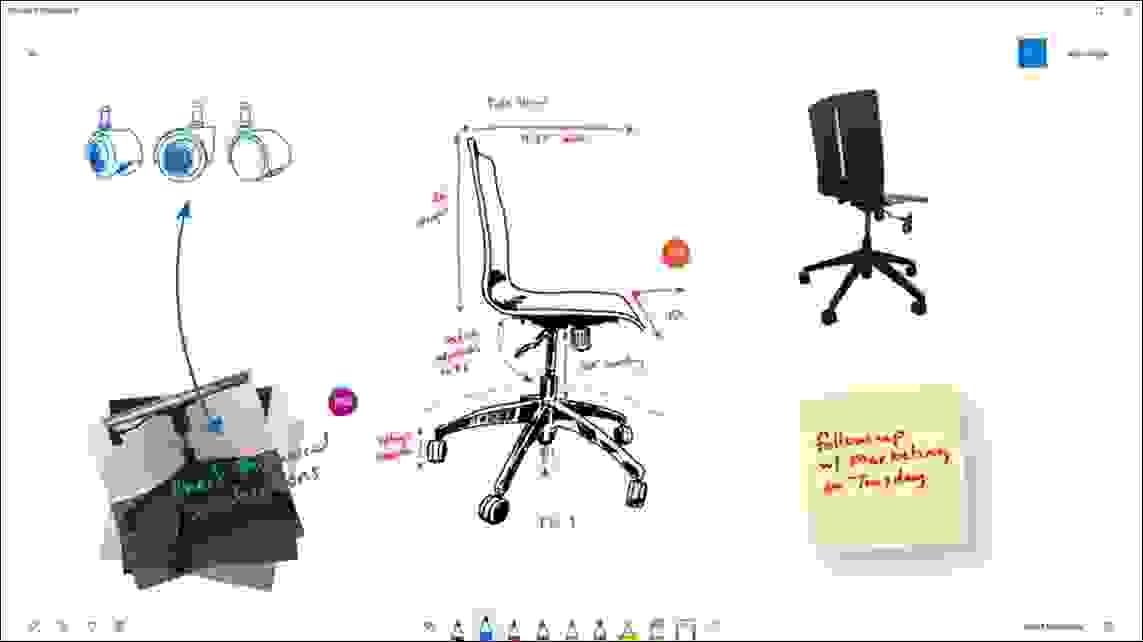 أفضل تطبيق تسجيل ملاحظات للتعاون في الوقت الفعلي، السبورة البيضاء (Microsoft Whiteboard) من مايكروسوفت