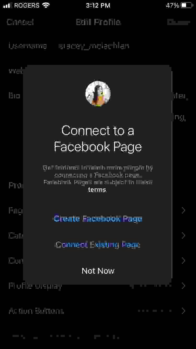 ربط حسابك على إنستغرام بصفحة فيسبوك (Facebook)