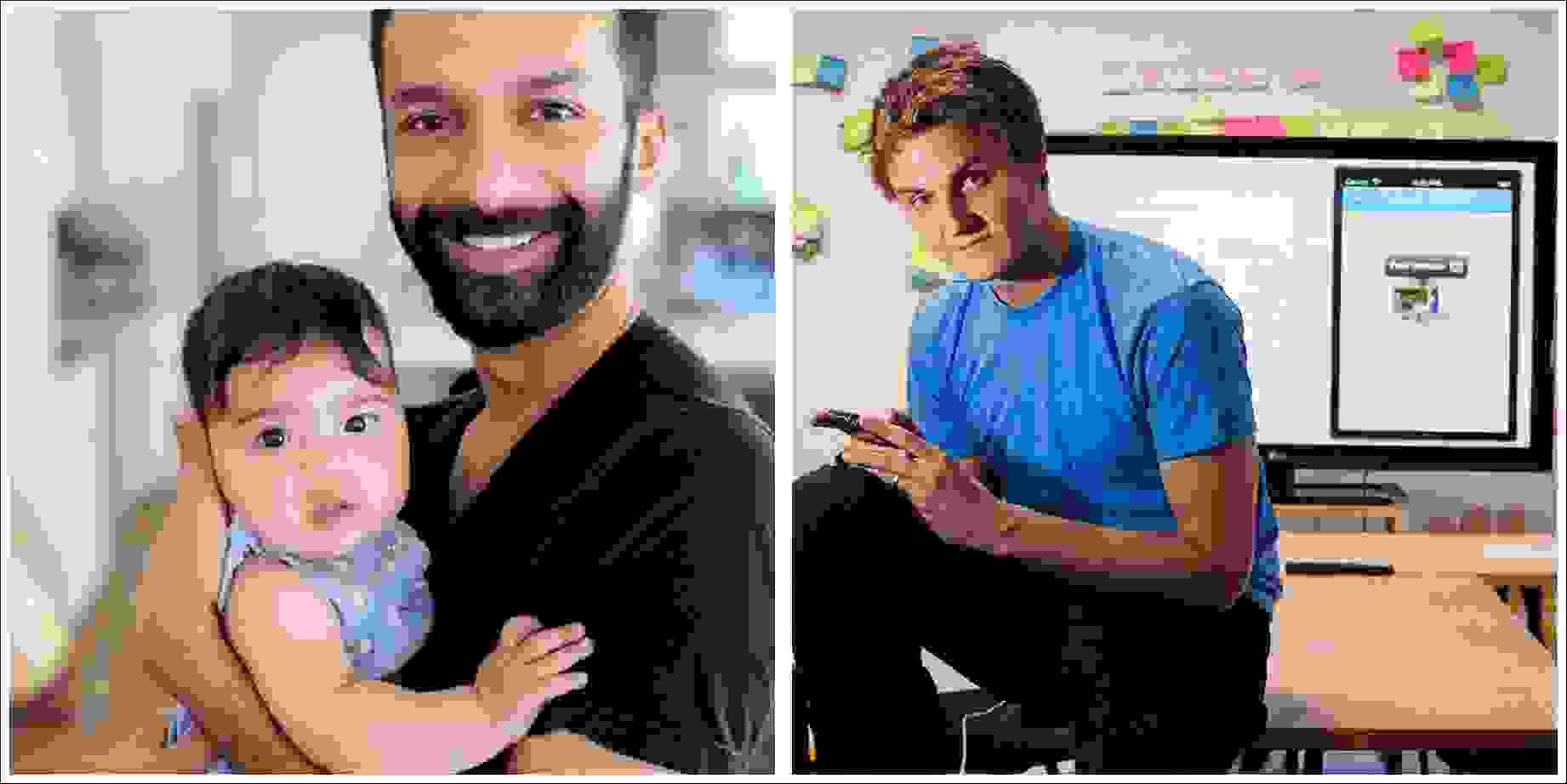 مؤسسي تطبيق كلوب هاوس: على اليمين رجل الأعمال بول دافيسون (Paul Davison) وعلى اليسار روهان سيث (Rohan Seth)