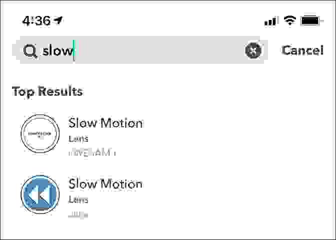 عمل فيديو بطيء الحركة (Slow Motion) في سناب شات