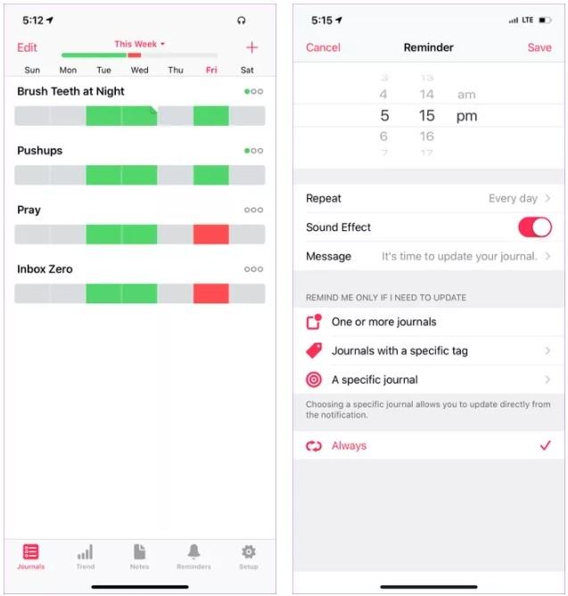تطبيق هابيت مايندر (HabitMinder)