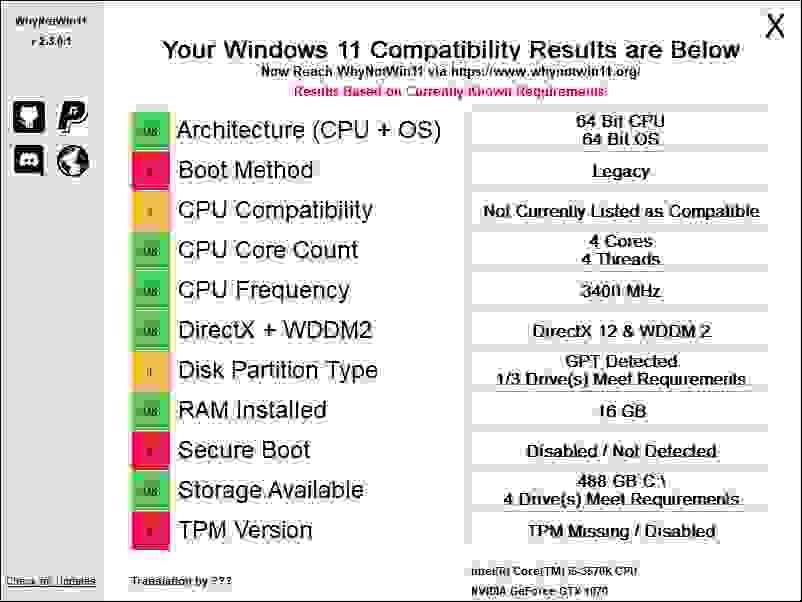 يمكنك -في الصورة أدناه- رؤية إمكانية الترقية إلى ويندوز 11 (Windows 11) لجهاز كمبيوتر سطح المكتب
