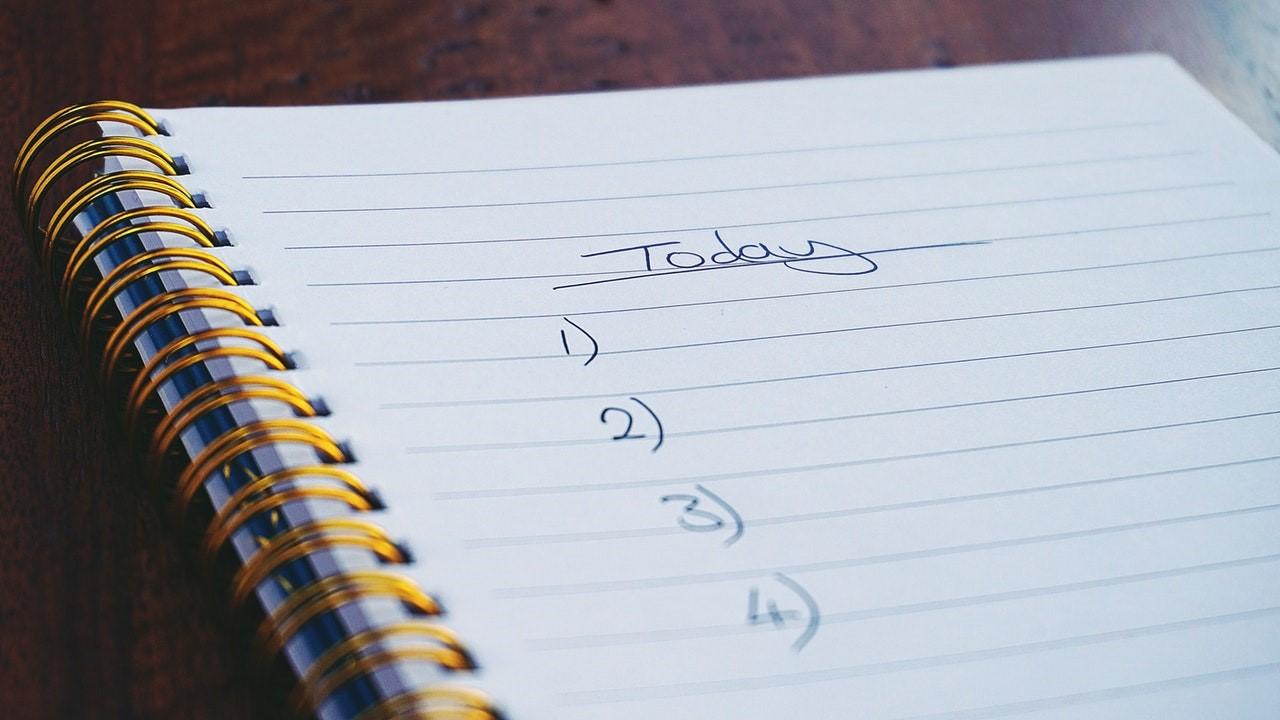 التفكير فيما يمكنك فعله اليوم