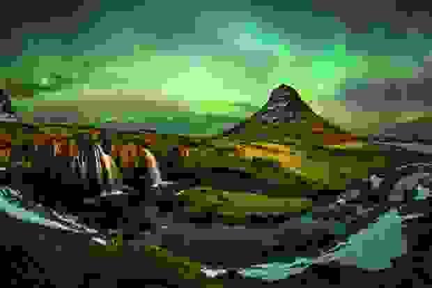 جبل كيركجوفيل في آيسلندا