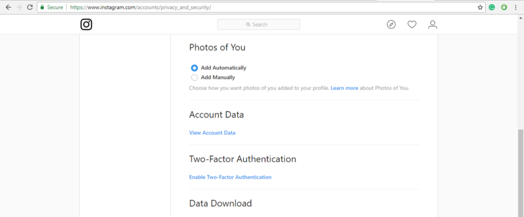 View Account Data