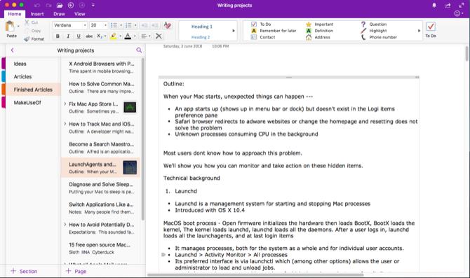 برنامج Microsoft OneNote (برنامج تدوين الملاحظات بميزات كثيرة)