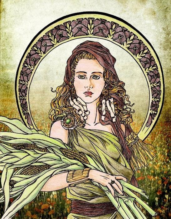 تعتبر آلهة ديميتر في الأساطير اليونانية راعية المزارعين وأم خصوبة الأرض ويقول أيسقراط أن معظم الهدايا التي كانت ديميتر تقدمها للأثينيين كانت الحبوب