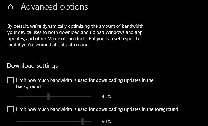 ضبط خيارات الحصول على التحديثات بـ Windows Update