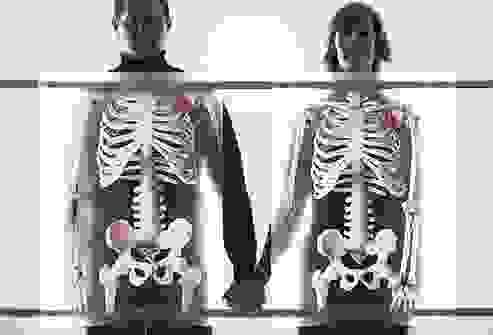 العظام تحت الجلد