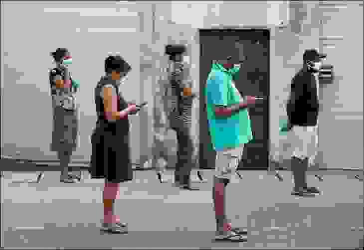 التباعد الاجتماعي في كولومبو، سيريلانكا